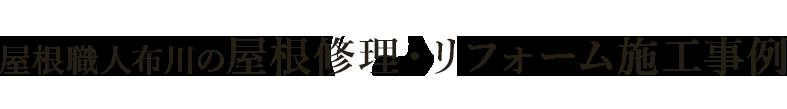 屋根職人布川の屋根修理・リフォーム施工事例